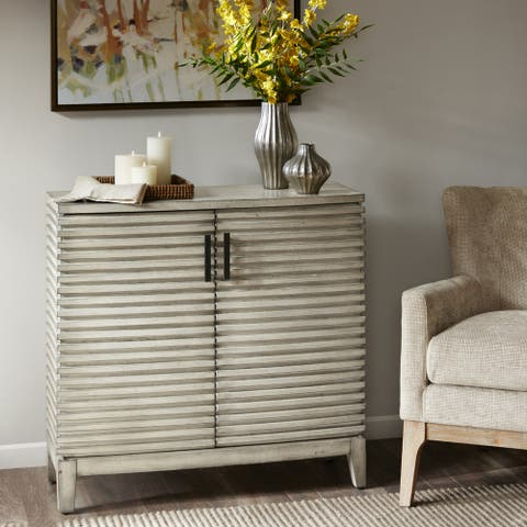 Madison Park Cain Cream Ridge Accent Chest