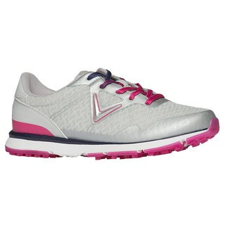Callaway Solaire Spikeless Golf Shoes Womens Gray/Pink