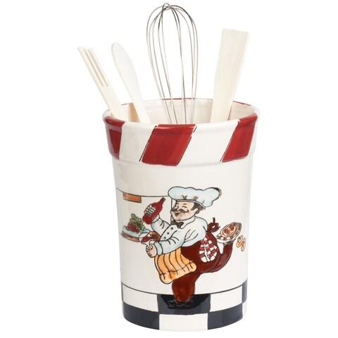 Chef Ceramic Utensil Holder