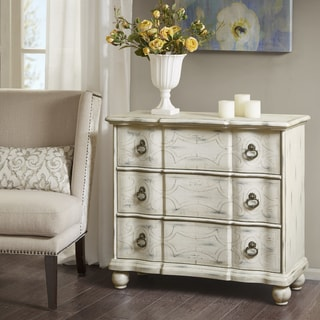 Madison Park Scripta Antique Cream Bun Foot Chest
