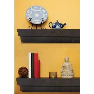 Roman Espresso Wood 60-inch Mantel Shelf - N/A