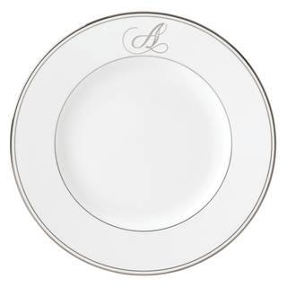 Lenox Federal Platinum Script Monogram Dinner Plate