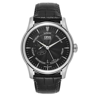 Oris Men's Artelier Leather Black Swiss Mechanical Automatic (Self-Winding) Watch