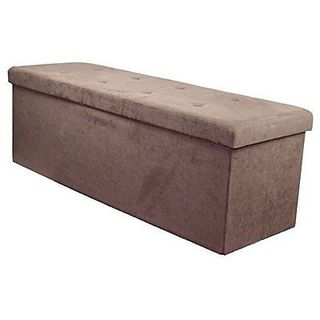 Sorbus Storage Bench Chest  Contemporary Faux Suede (Large, Chocolate)