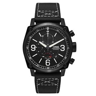 Oris Men's BC4 Leather Black Swiss Mechanical Automatic (Self-Winding) Watch