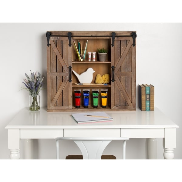 Kate And Laurel Cates Brown Wood Rustic Wall Storage