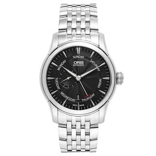 Oris Men's Artelier Stainless Steel Black Swiss Mechanical Automatic (Self-Winding) Watch