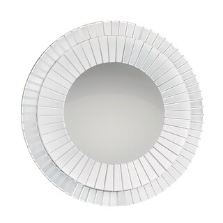 Quoizel Muse White Glass Large Mirror