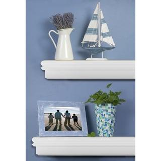 Montego 60-inch White Mantel Shelf