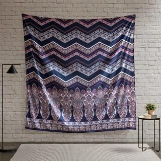 Intelligent Design Kinley Purple Printed Wall Tapestry