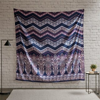 Intelligent Design Kinley Purple Printed Wall Tapestry