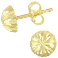 14k Yellow Gold Half-Dome Ball Stud  Earrings