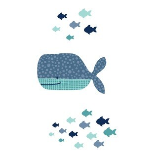 South Shore DreamIt Blue Little Whale Wall Decals