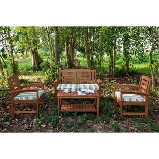 Wood 4-piece Seating Set