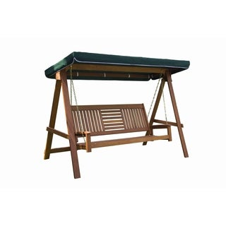 3 Seater Wood Swing With Canopy