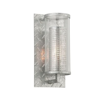 Troy Lighting Murdoch Painted Galvanized Small ADA Outdoor Wall Sconce, Clear Glass