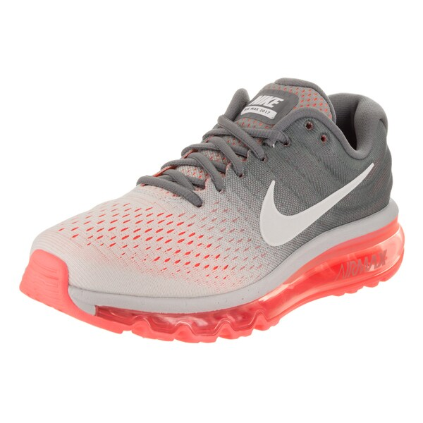 473561e467a395 Shop Nike Women s Air Max 2017 Pure Platinum White Cool Grey Textile ...