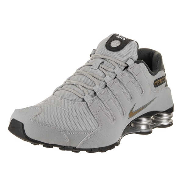 nike men s shox nz grey