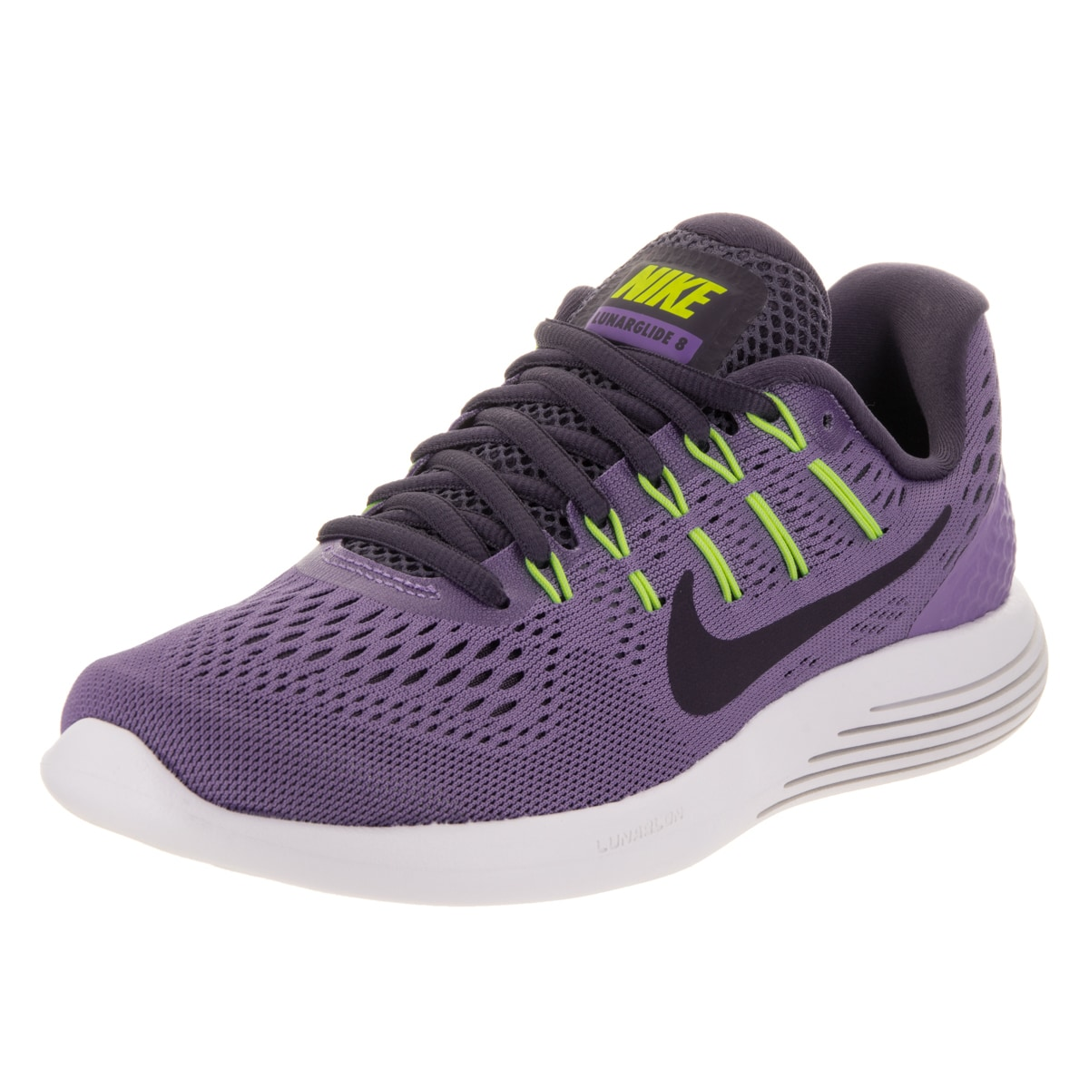 Nike Women's Lunarglide 8 Purple Textile Running Shoe (6 ...