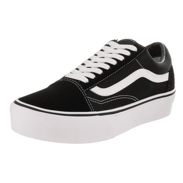 4bced4fcd0 Shop Vans Unisex Old Skool Platform Black Suede Skate Shoes - Free ...