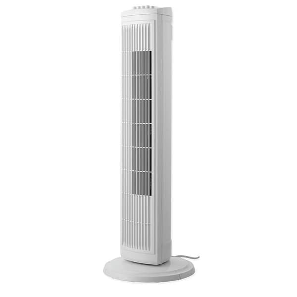 Sharper Image 30 Inch Oscillating White Tower Fan