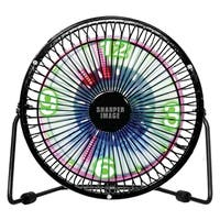 Sharper Image LED Time/Temp Display Table Top  Fan