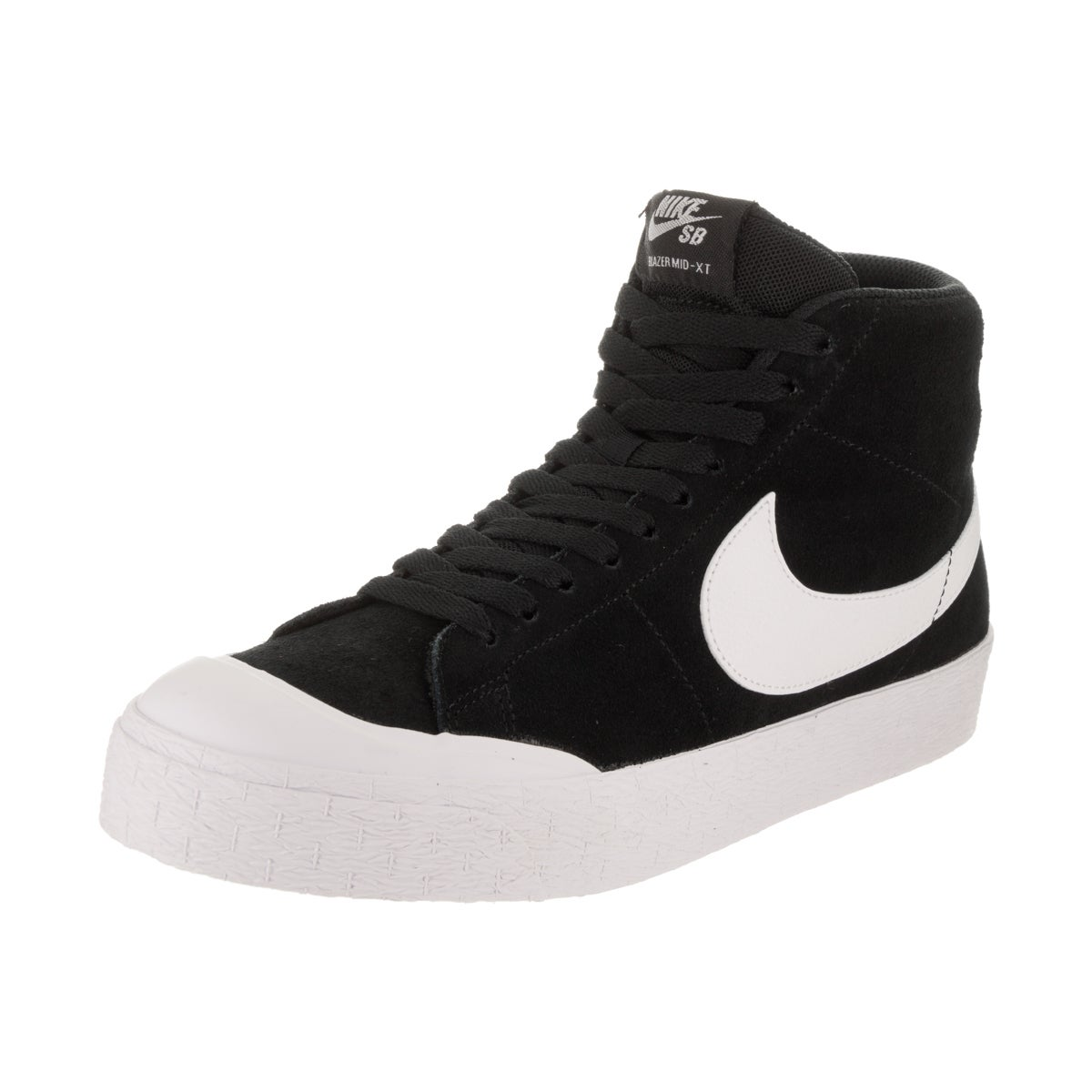 Nike Men's SB Blazer Zoom Mid XT Black Suede Skate Shoe