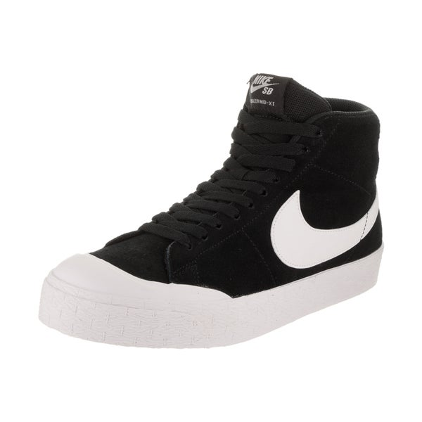 44d8dad952ea Shop Nike Men s SB Blazer Zoom Mid XT Black Suede Skate Shoe - Free ...