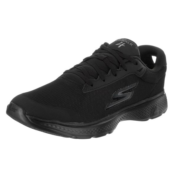 Skechers Men's Go Walk 4 Distance Black Textile Casual Shoe