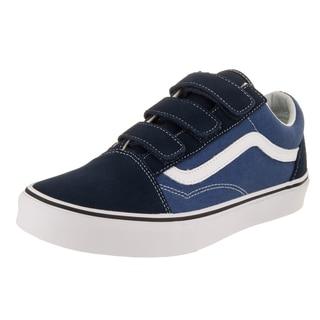 Vans Unisex Old Skool V Blue Suede Skate Shoes