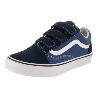 Vans Unisex Old Skool V Blue Suede Skate Shoes