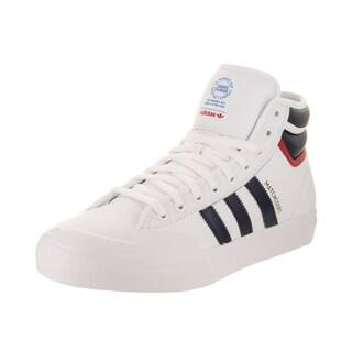 Adidas Men's Matchcourt High RX2 White/Navy Leather Skate Shoe