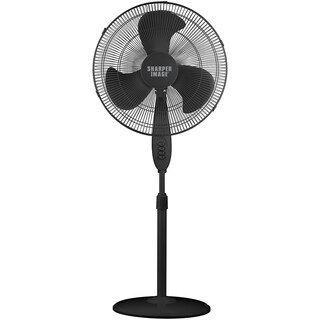 Sharper Image 18 Inch Oscillating Black Stand Fan