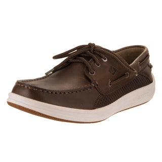 Sperry Men's Top-Sider Gamefish Dark Brown Leather 3-eye Boat Shoe