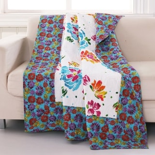 Barefoot Bungalow Ravey Quilted Throw