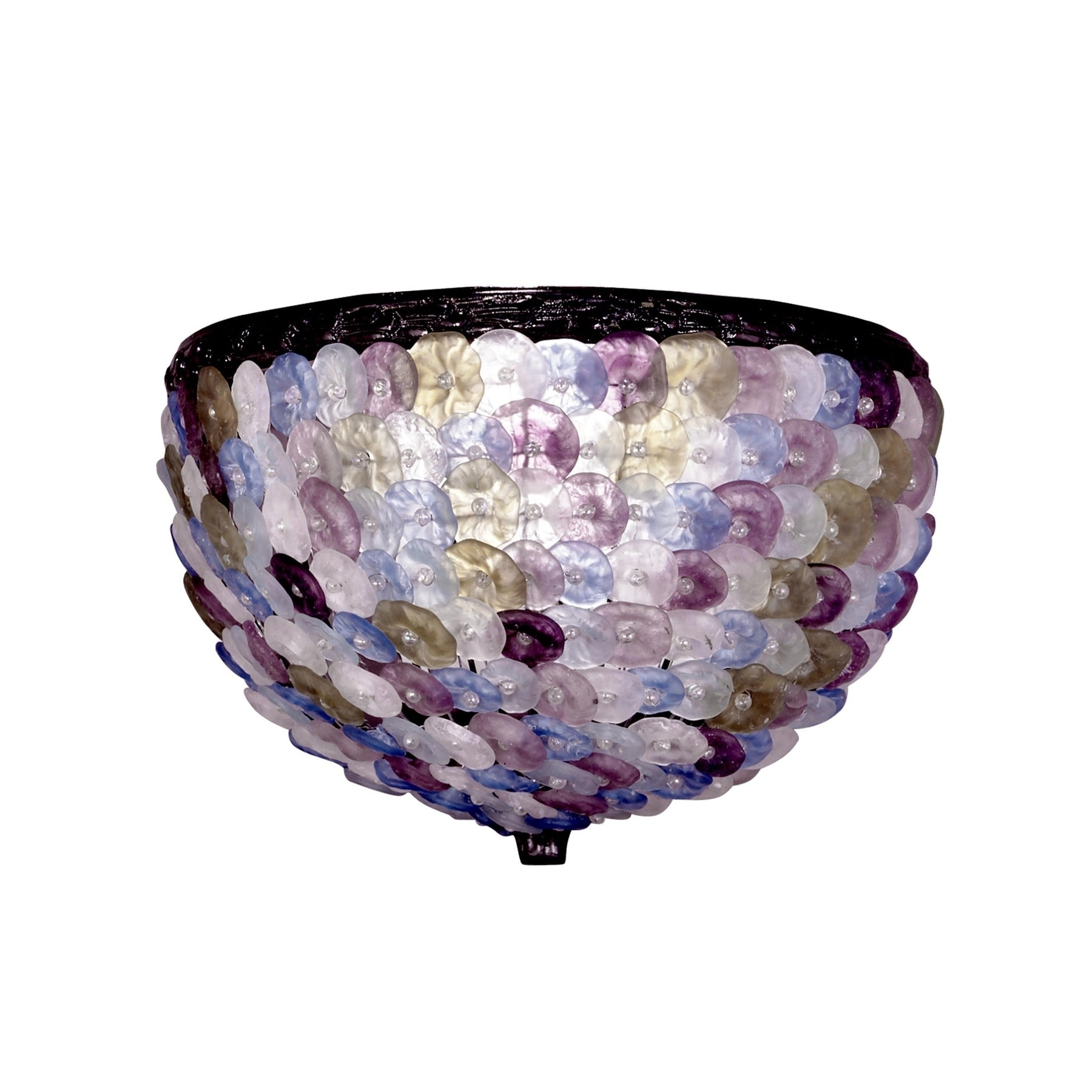 "Dale Tiffany Springdale 11.5""W Cephas Hand Blown Art Glas..."