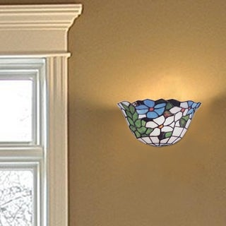 "Dale Tiffany Select 12""W Flower Basket Wall Sconce"