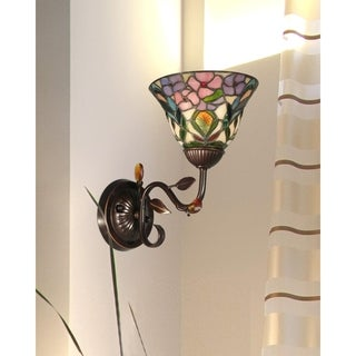 """Dale Tiffany Select 10.5""""H Peony Wall Sconce"""