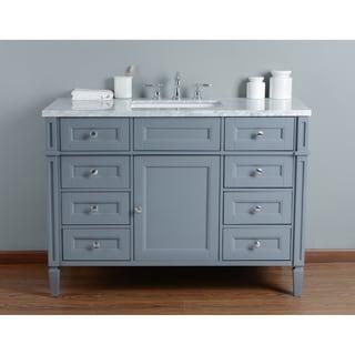 Stufurhome Anastasia 48 Inch Grey Single Sink Bathroom Vanity