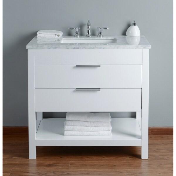 65 Inch Bathroom Vanity Single Sink: Shop Stufurhome Rochester 36 Inch White Single Sink