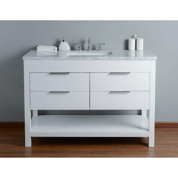 65 Inch Bathroom Vanity Single Sink: Shop Stufurhome Rochester 48 Inch White Single Sink