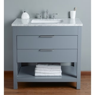 Stufurhome Rochester 36 Inch Grey Single Sink Bathroom Vanity