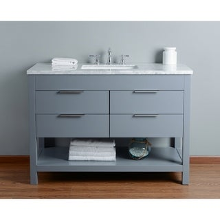 Stufurhome Rochester 48 Inch Grey Single Sink Bathroom Vanity