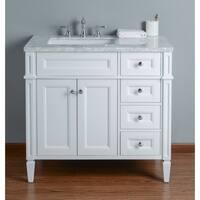 Stufurhome Anastasia 36 Inch White Single Sink Bathroom Vanity