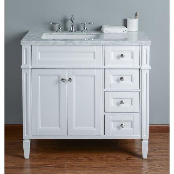 Shop Stufurhome Anastasia 36 Inch White Single Sink ...