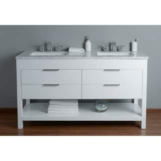 white vanity double sink. Stufurhome Rochester 60 Inch White Double Sink Bathroom Vanity  Options Vanities Size Cabinets For