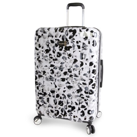 bebe Abigail Winter Leopard 29-inch Hardside Spinner Upright Suitcase