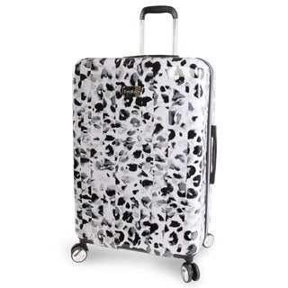 bebe Abigail Winter Leopard 29-inch Hardside Spinner Upright Suitcase