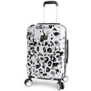 bebe Abigail Winter Leopard 21-inch Hardside Spinner Carry-On Spinner Suitcase