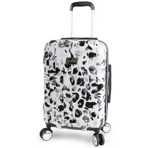 bebe Abigail Winter Leopard 21-inch Hardside Spinner Carry-On Spinner Suitcase